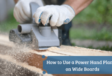 How to Use a Power Hand Planer on Wide Boards